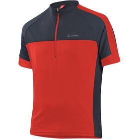 Löffler Pace 3.0 Half-Zip Bike Shirt Men, rood